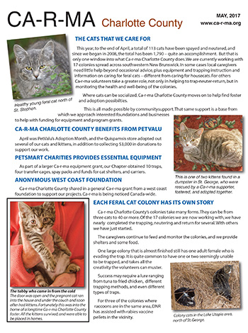 Ca-r-ma Charlotte Newsletter May 2017